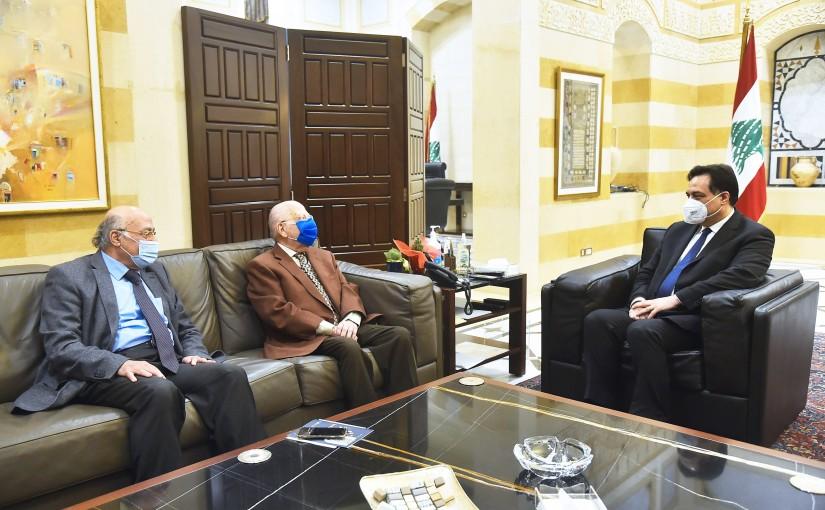 Pr Minister Hassan Diab meets Mr Farouq Jaber