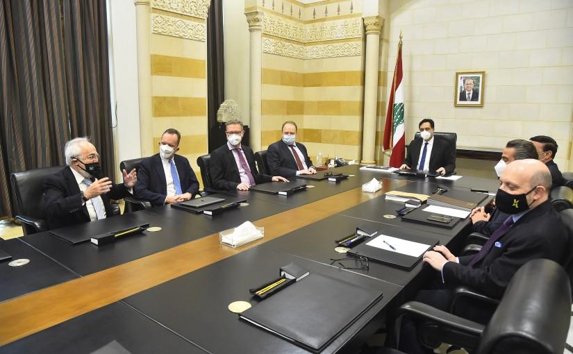 Pr Minister Hassan Diab meets a German Delegation