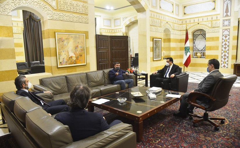 Pr Minister Hassan Diab meets Mr Mouhamad Hout