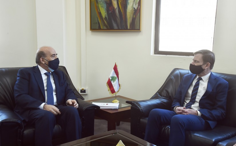 Minister Charbel Wehbeh meets Mr David Hill
