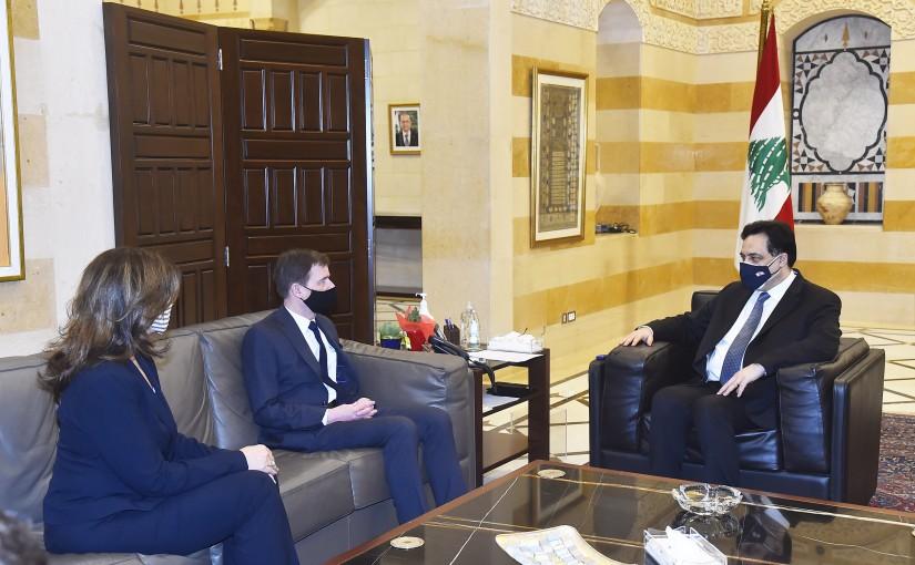Pr Minister Hassan Diab meets Mr David Hill