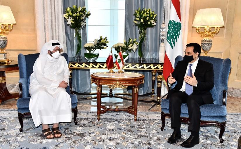 Pr Minister Hassan Diab meets Qatar Minister Gaith el Kawari