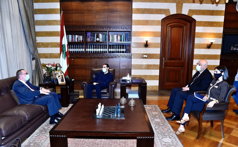 Pr Minister Saad Hariri meets Norway Ambassador