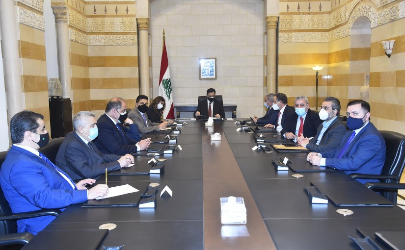 Pr Minister Hassan Diab Heading a Economical Meeting