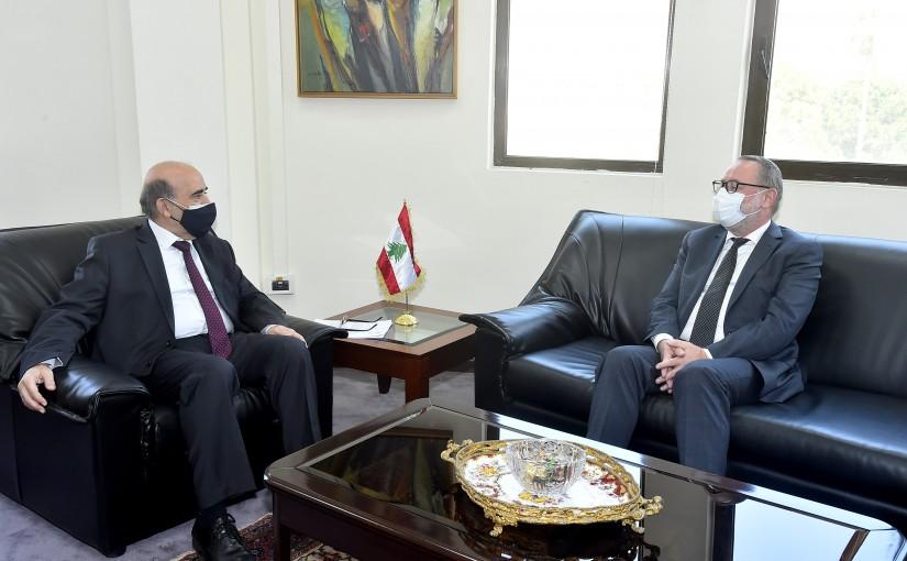 Minister Charbel Wehbeh meets Norway Ambassador