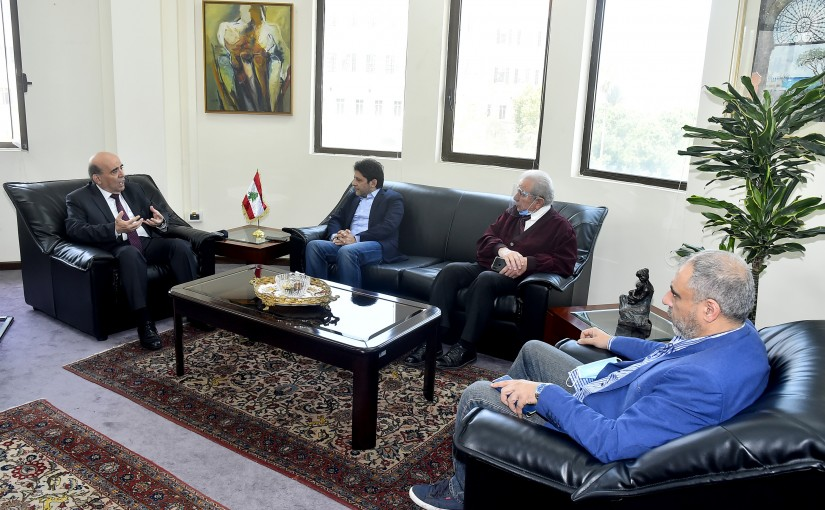 Minister Charbel Wehbeh meets a Delegation from Actors Syndicate
