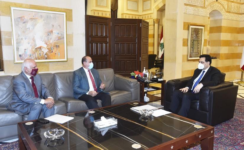 Pr Minister Hassan Diab meets Minister Imad Heballah