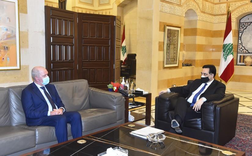Pr Minister Hassan Diab meets Netherland Ambassador