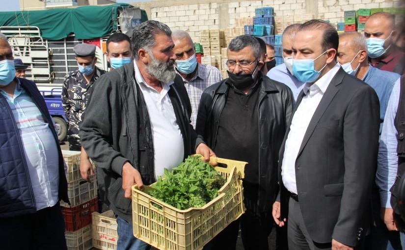 Minister Abass Mourtada Visits Beirut Vegetable Market