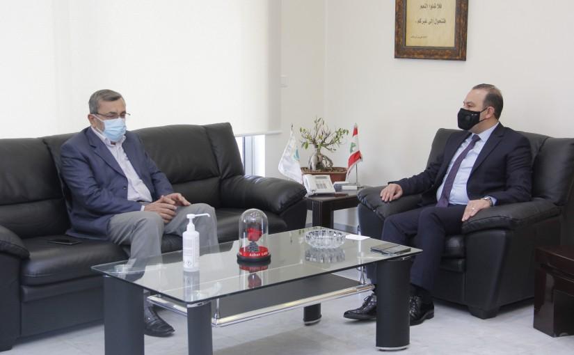 Minister Abass Mourtada meets MP Ezeldine
