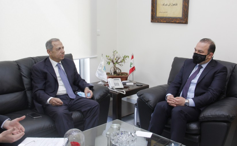 Minister Abass Mourtada meets MP Adnan Traboulssi