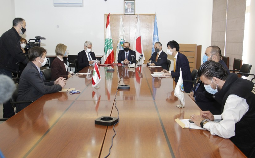 Minister Abass Mourtada meets a Japanese Delegation