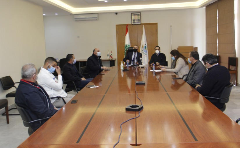 Minister Abass Mourtada meets a Delegation from Feed Importers Syndicate