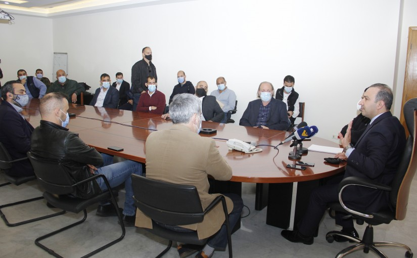 Minister Abass Mourtada meets a Delegation from Live Cattel Syndicate
