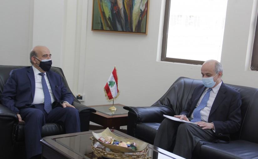 Minister Charbel Wehbeh meets Spanish Ambassador