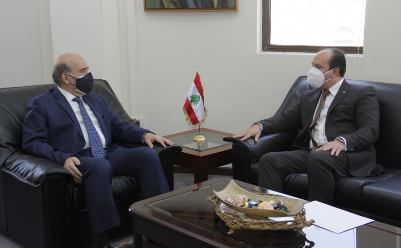 Minister Charbel Wehbeh meets Cuda Ambassador