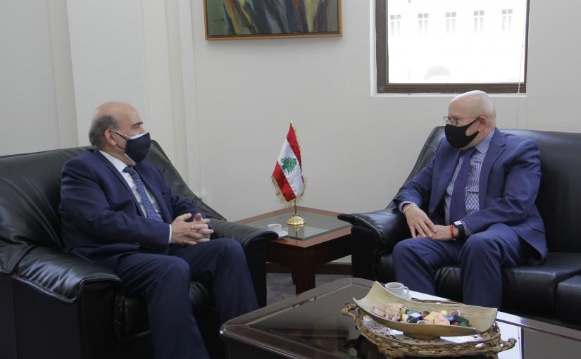 Minister Charbel Wehbeh meets Uruguay Ambassador