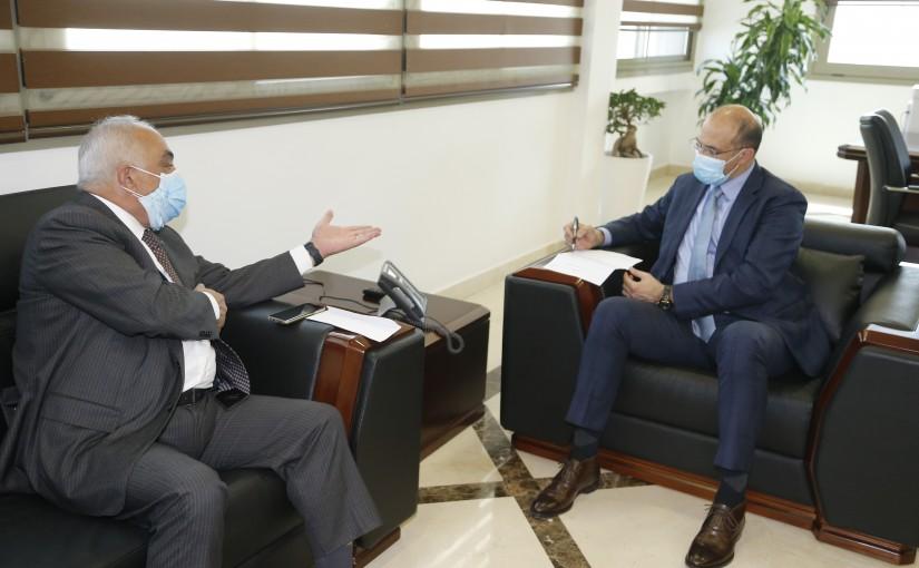 Minister Hassan Hamad meets MP Mouhamad  Hajjar