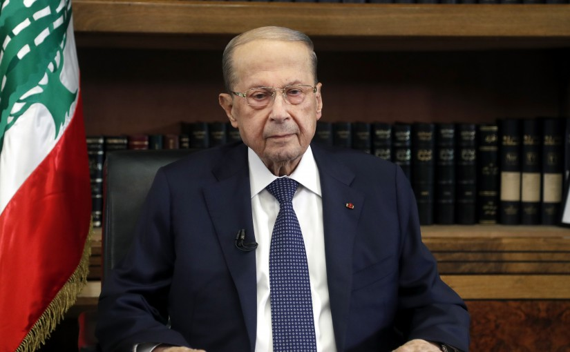 press Conference for President Michel Aoun