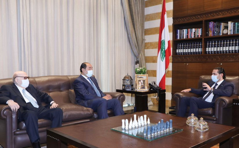 Pr Minister Saad Hariri meets Mr Houssam Zaki