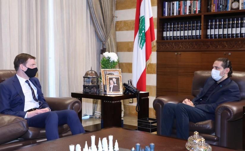 Pr Minister Saad Hariri meets Mr David Hill