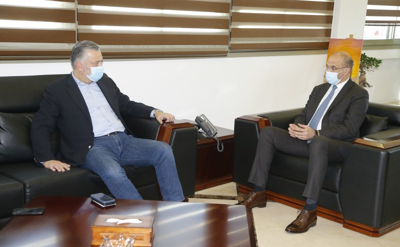 Minister Hassan Hamad meets MP Hady Houbeich
