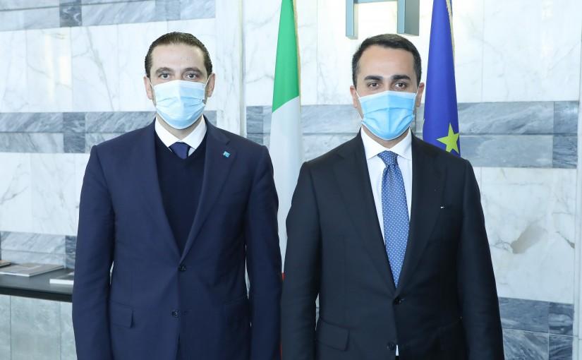 Pr Minister Saad Hariri meets Italian Minister of Foreign Affairs