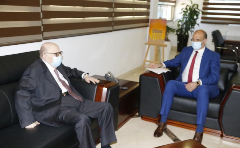 Minister Hassan Hamad meets Ambassador Abdel Rahman Soleh