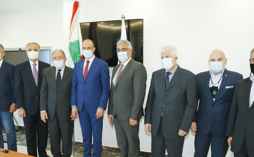 Minister Hassan Hamad meets a Delegation from Lebanese Culture University