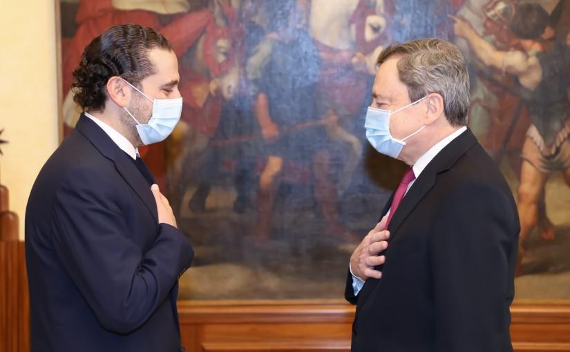 Pr Minister Saad Hariri meets Italian Pr Minister