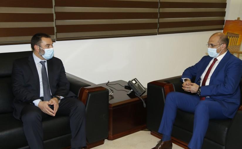 Minister Hassan Hamad meets Mr Ibrahim Hana
