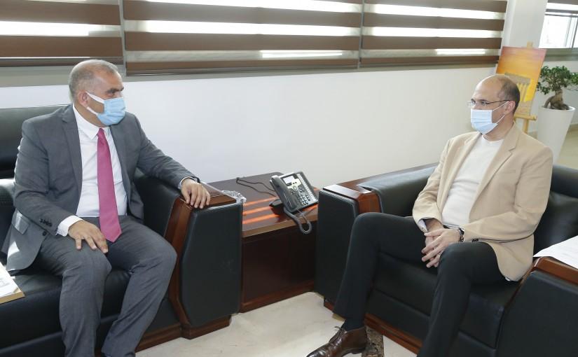 Minister Hassan Hamad meets Head of Tripoli Port
