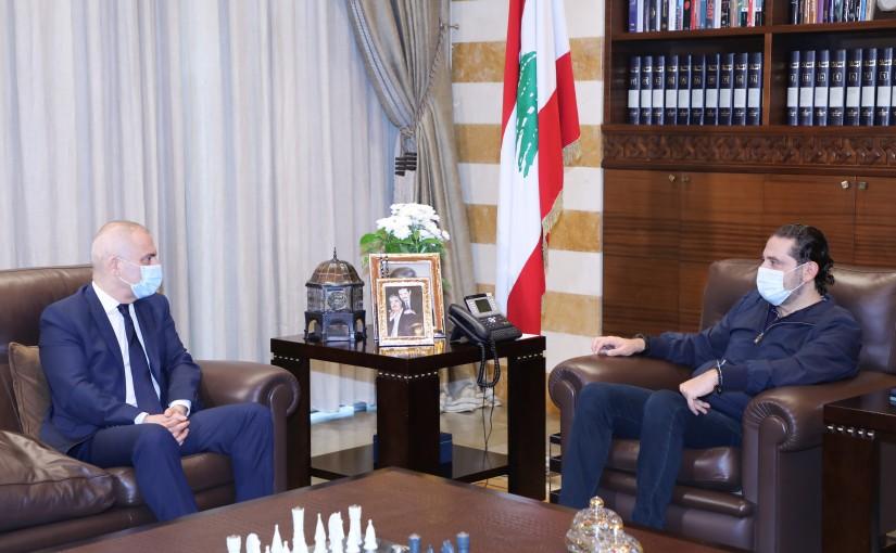 Pr Minister Saad Hariri meets Mr Elie Mahfoud