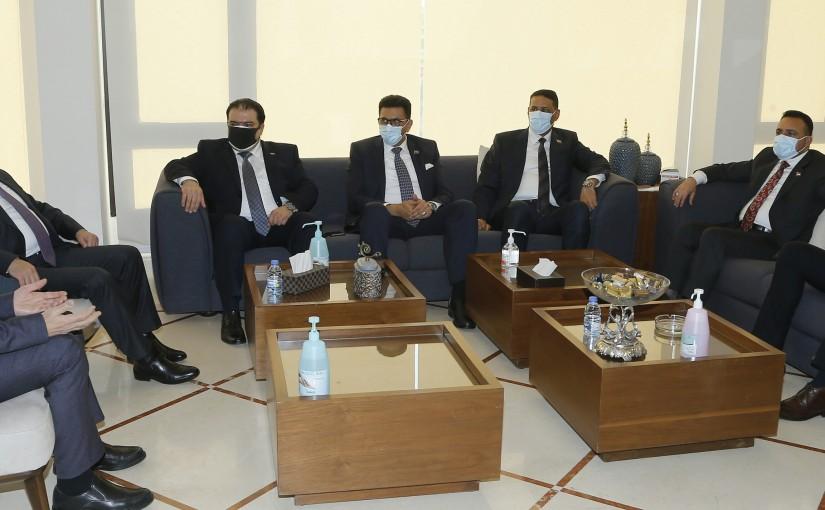 Minister Hassan Hamad meets Visits Rasoul el Aazam Hos