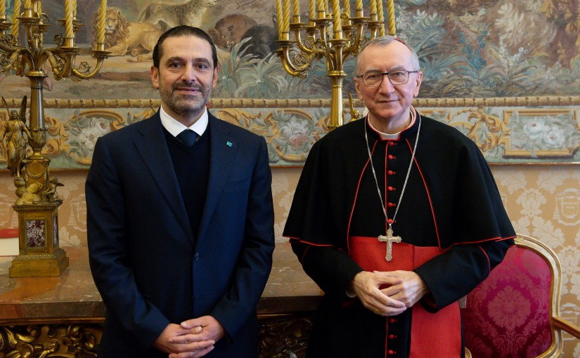 Pr Minister Saad Hariri meets Cardinal Parolin