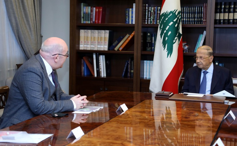 President Michel Aoun meets British Charges D affairs