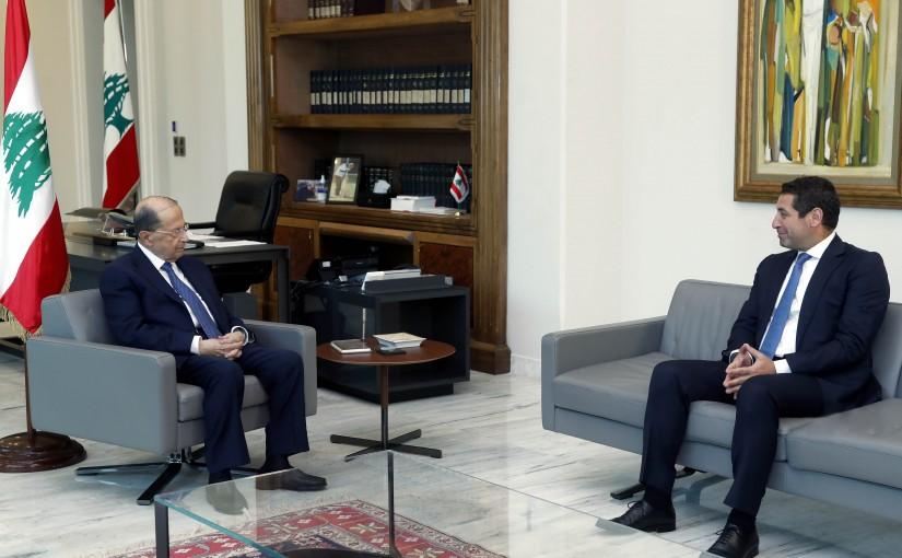 President Michel Aoun Meets MP Edgard Maalouf