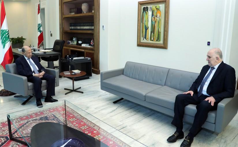 President Michel Aoun Meets Minister of Interior  Mohamad Fahmi