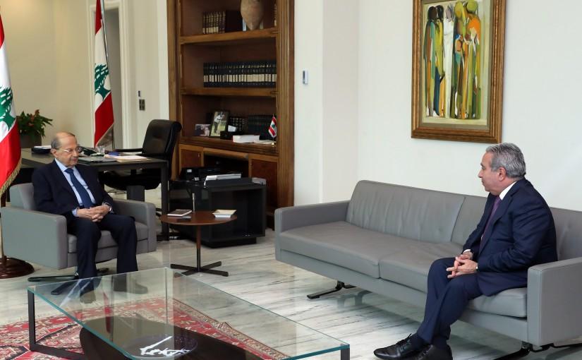 President Michel Aoun Meets Minister Ramzi Msharafiyeh