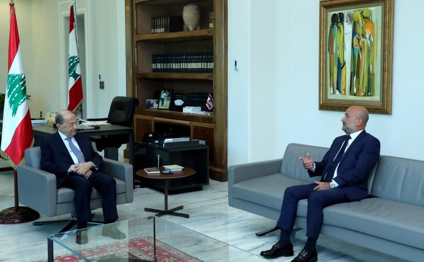 President Michel Aoun Meets MP Simon Abi Ramia