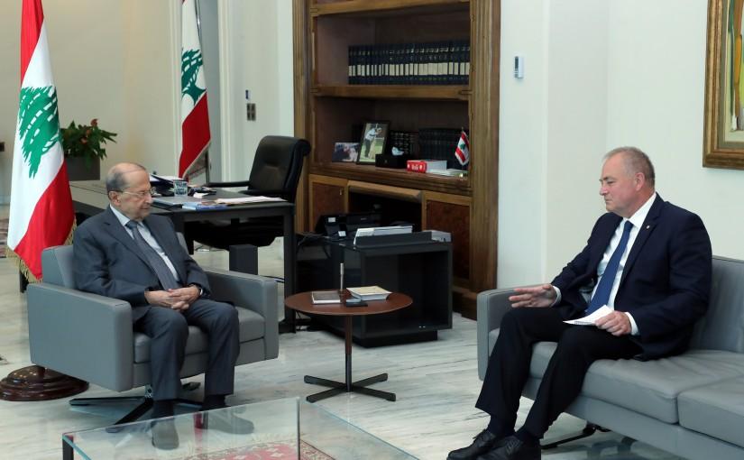 President Michel Aoun Meets Russian Ambassador