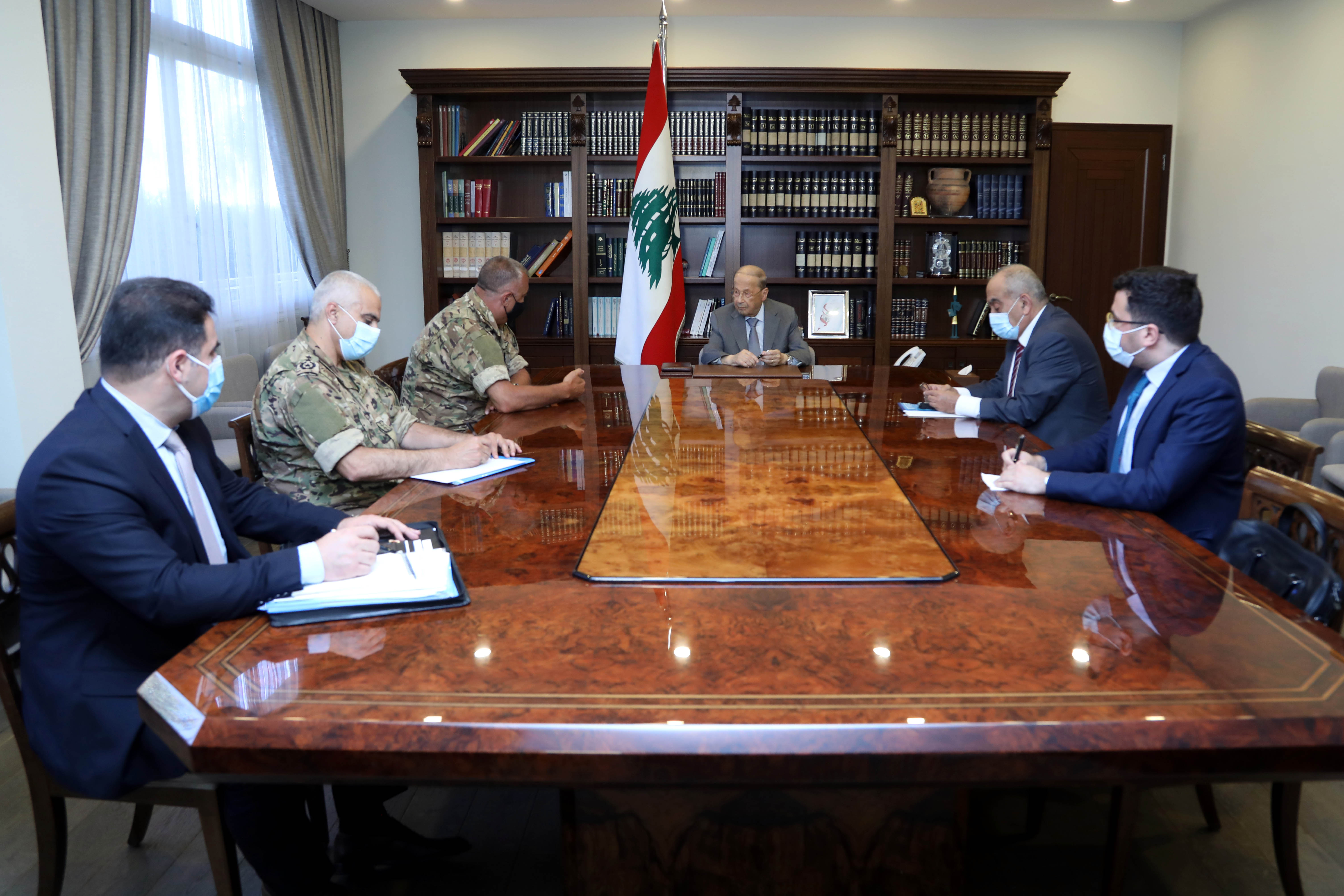 2- The Lebanese delegation in charge of indirect technical negotiations to demarcate the southern maritime borders