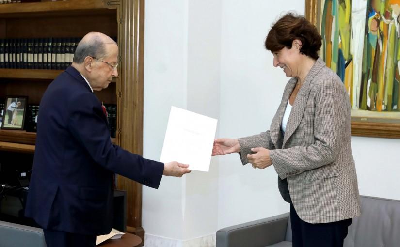 President Michel Aoun Meets French Ambassador