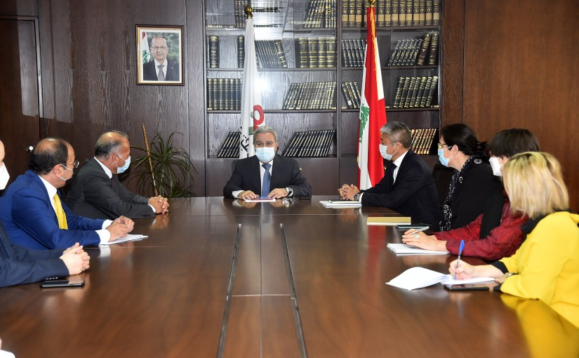 Minister Ramzi Moucharafieh meets a Delegation from United Nation