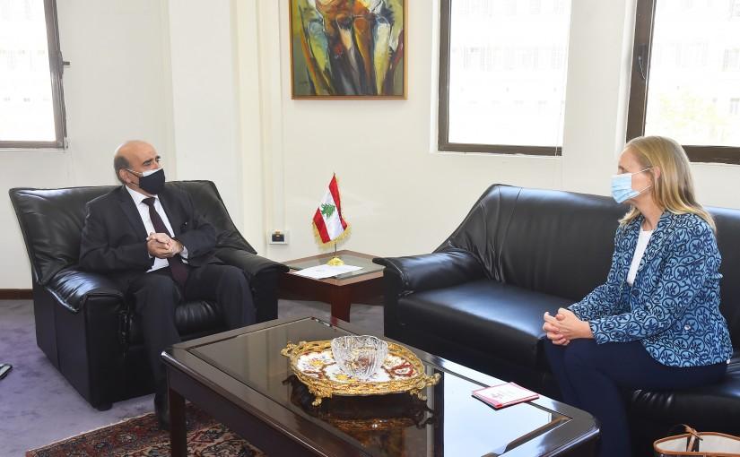 Minister Charbel Wehbeh meets Canadian Ambassador
