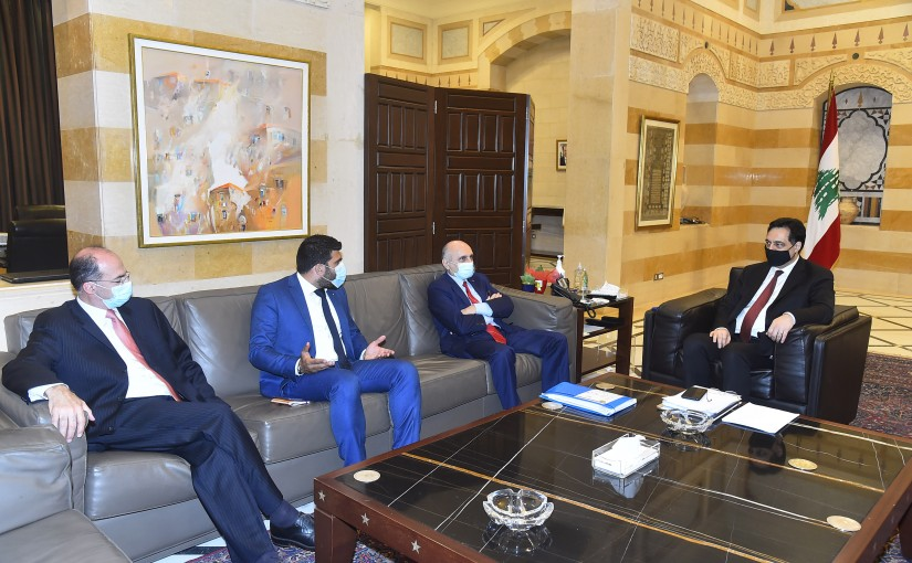 Pr Minister Hassan Diab meets a Delegation from Depositors Association