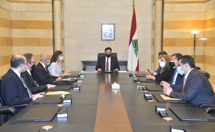 Pr Minister Hassan Diab meets a Delegation from World Summit Awards Committee.