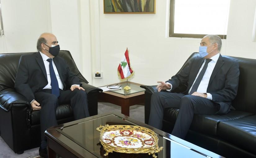 Minister Charbel Wehbeh meets European Ambassador