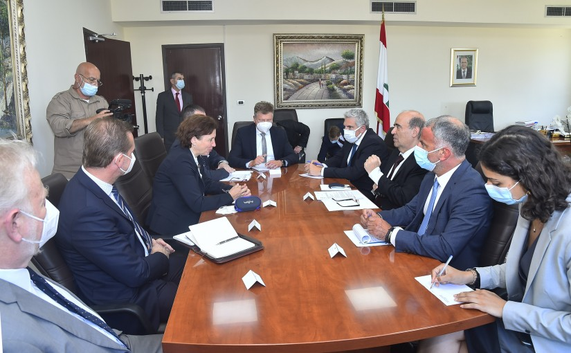 Minister Charbel Wehbeh meets Minister of State in Slovakia Ingrid Protskova