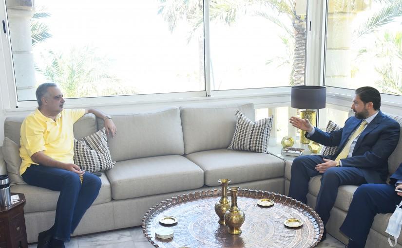 MP Tallal Erslan meets Former Minister Faycal Karameh